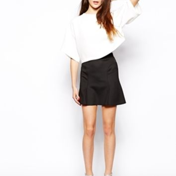 TFNC Tess Mini Skirt - Black