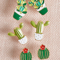 Windowsill Whimsy Cactus Earring Set