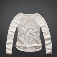 Dana Strands Shine Lace Sweatshirt