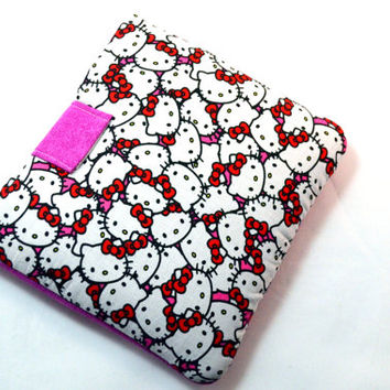 "Hello Kitty Tablet Case/ Tablet Sleeve/ Kindle Fire HD 7"" Cover/ 7 inch Tablet Cover/ Kindle Sleeve"