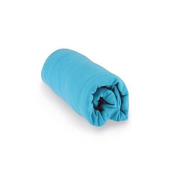 Turquoise Blue Organic Cotton Fitted Crib Sheet