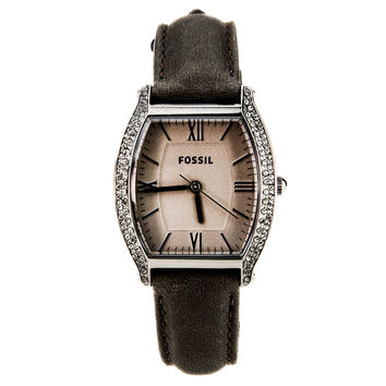 Fossil ES3128 Women's Wallace Grey Dial Grey Leather Strap Watch