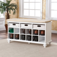 Chelmsford Entryway Bench - White
