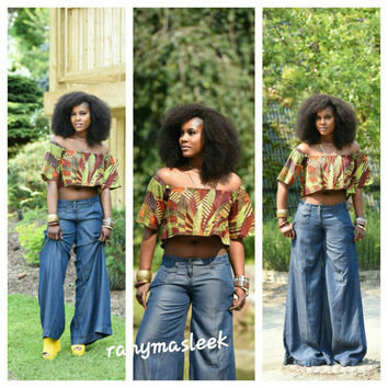 Farida Crop Top  African print top
