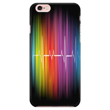 LGBT iPhone Case 100% Rainbow Heart Pulse