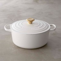 Le Creuset Signature Cast-Iron Dutch Oven with Gold Knob