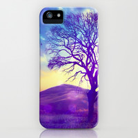 Purple Hill - for iphone iPhone & iPod Case by Simone Morana Cyla