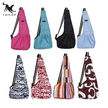 Tailup Pet Carrier Bag Oxford Dog Cat Puppy Aminal Sling Single Shoulder Bag Warm Winter Dog Front Chest Carrier Outdoor Travel
