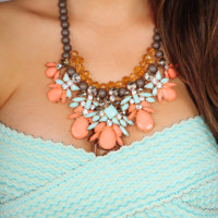 Now I Know Better Necklace: Peach/Mint