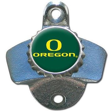 Oregon Ducks Wall Mount Bottle Opener Bar Pub Man Cave NCAA Football Beer Soda