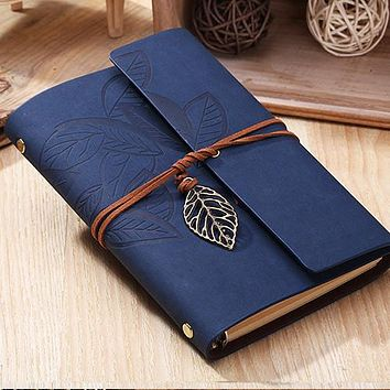 Vintage Notebook paper 80 sheets leather Diary Journal Spiral kraft Notebook notepad
