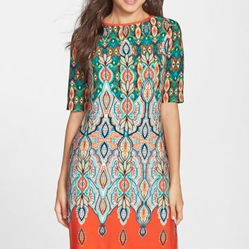 Women's Eliza J Print Jersey Shift Dress,
