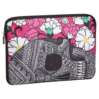 Zio Ziegler Skull And Flower Laptop Sleeve
