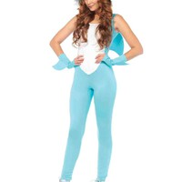 3pc. Deadly Land Shark Shark Catsuit Costume