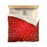 Christmas Pattern - Microfiber Duvet Cover - Can be Customized!