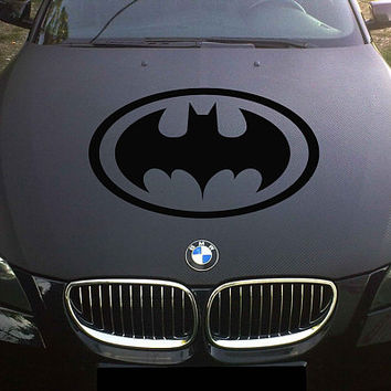 Batman logo car hood decal Batman logo Car Decals Batman Car Truck Batman Side Body Graphics Batman Decal for car kikcar135