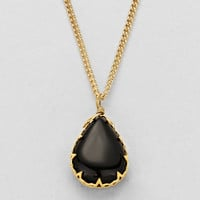 Natural Stone Black Necklace