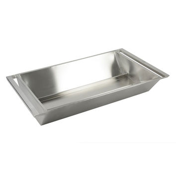 34 7/8 x 19 3/4 x 6 1/4 inch Rectangular Double Wall Beverage Tub