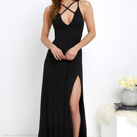 Fame to Claim Black Maxi Dress