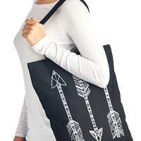 Boho Arrows Printed Canvas Tote Bag