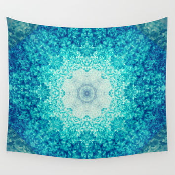 Blue Waves Wall Tapestry by Sandra Arduini