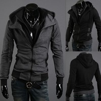 Men Hoodies Hats Slim Long Sleeve Winter Jacket [6528675715]
