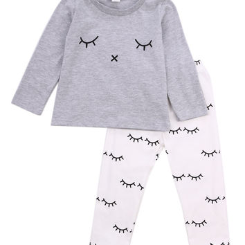2016 autumn Winter baby boy girl clothes Long sleeve Top + pants 2pcs sport suit baby clothing set newborn infant clothing