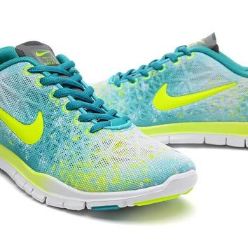 Women's Nike Free TR FIT 3 Print Camo Limited Training Shoes Sport Green/Electric Yellow