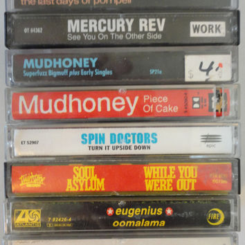 unknown 90s alternative cassette tape LoT vintage music cassettes collection mudhoney spin doctors soul asylum