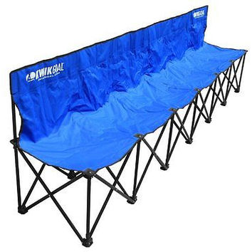 Goal 6-Seat Kwik Bench Baseball Chair Outdoor Collapsible Sport Free Ship New