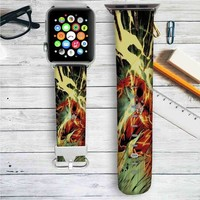 The Flash DC Comics Custom Apple Watch Band Leather Strap Wrist Band Replacement 38mm 42mm