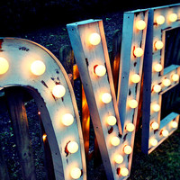 Marquee Letters (Relic // Patina // Fun Fair Sign & Light // Vintage themed // Wedding // Distressed // Home lighting)