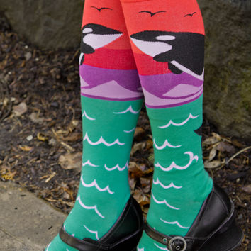 Sock Dreams - Orca Knee High
