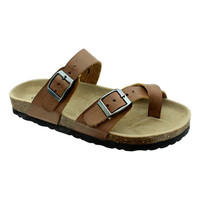 Birk Buckle Sandal, Brown