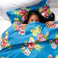Girls Bedding: Blue Countryside Bedding Set in Bedding | The Land of Nod