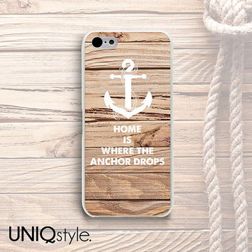 Anchor wood print phone case for iPhone 4/4s iPhone 5/5s iPhone 5c, Samsung s4 s5, htc one m7 m8, one max, Nokia lumia 1520, 520 - W13