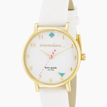 Kate Spade 5 O'clock Metro Watch White ONE