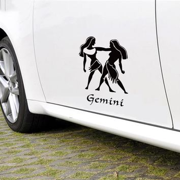 Funny cartoon GEMINI  totem car styling,auto decor vinyl stickers and decals,car window side door tail DIY decor sticker