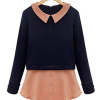 'The Naia' Contrast Collar Blouse