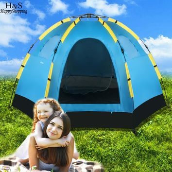 5-8 Person Waterproof Automatic Dome Tent