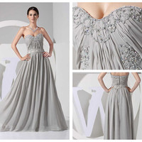 Custom sweetheart Beading Chiffon Prom Dress/celebrity dress