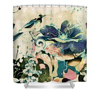 Springtime Ornamental Vintage Shower Curtain