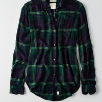 AEO Ahh-mazingly Soft Boyfriend Shirt, Green