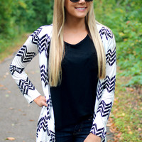 Chevron the Road Again Cardi