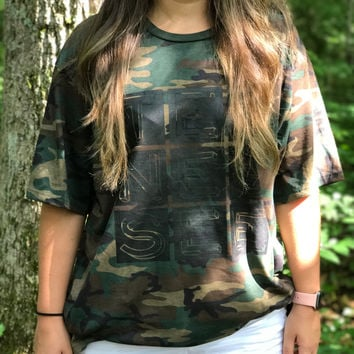 Adult TENNESSEE on a Military Camo T-Shirt