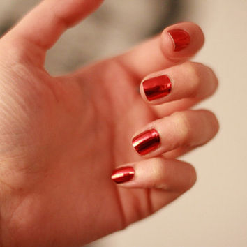 Metallic Red Nail Foils / Nail Wraps / LIMITED QUANTITY
