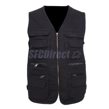 Men's Fishing Vest Hunting Vest Outdoor Vest Sports Vest Multi Pocket Waistcoat Work Utility Vest Travel Vest