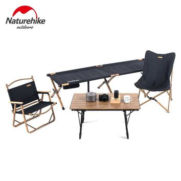 Naturehike Folding Camping Table Chair Camping Cot Set