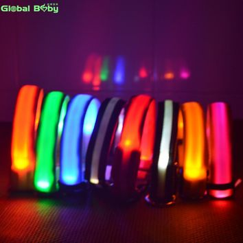 7 Colors Nylon Night Safety LED Dogs Collar  | Lights Flashing Glow