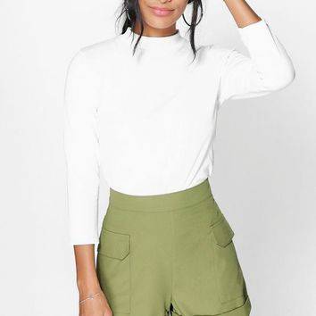 Sahara Utility Pocket Side Shorts | Boohoo